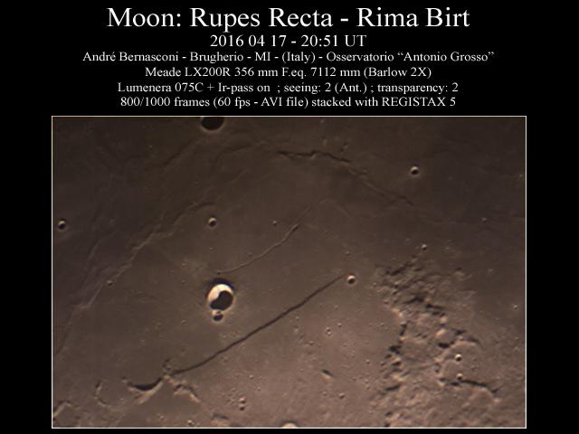 Rupe Recta - Rima Birt